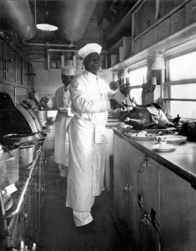 Preparing Dinner In The Dining Car Kitchen